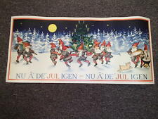 Scandinavian Swedish Christmas Poster Print - Tomte Tree NuAr Det Jul Igen #1502