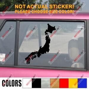 Map of Japan Japanese Decal Sticker Car Vinyl pick size color JDM