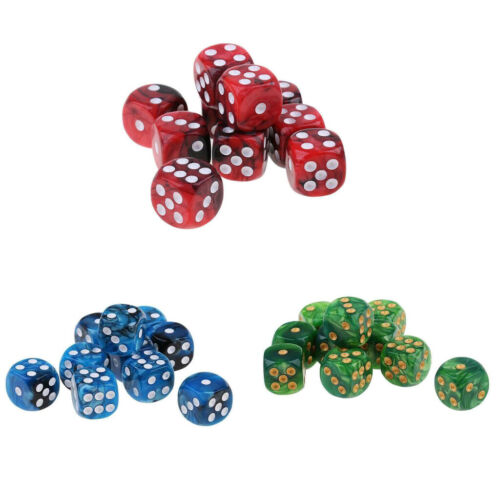 30Pcs Square Dices D6 Six Sided 16mm for  Game Fun Toys