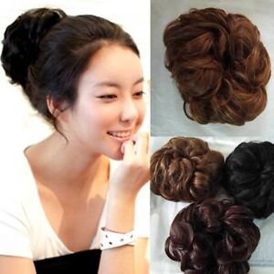 Short-Curly-Wig-Dish-Faux-Hair-Synthetic-Fiber-Hair-Bun-Extension-for-Women-WE9