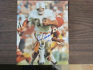 29bd1843489 Larry Csonka Autograph   Signed 8 x 10 photo Miami Dolphins 72 17-0 ...