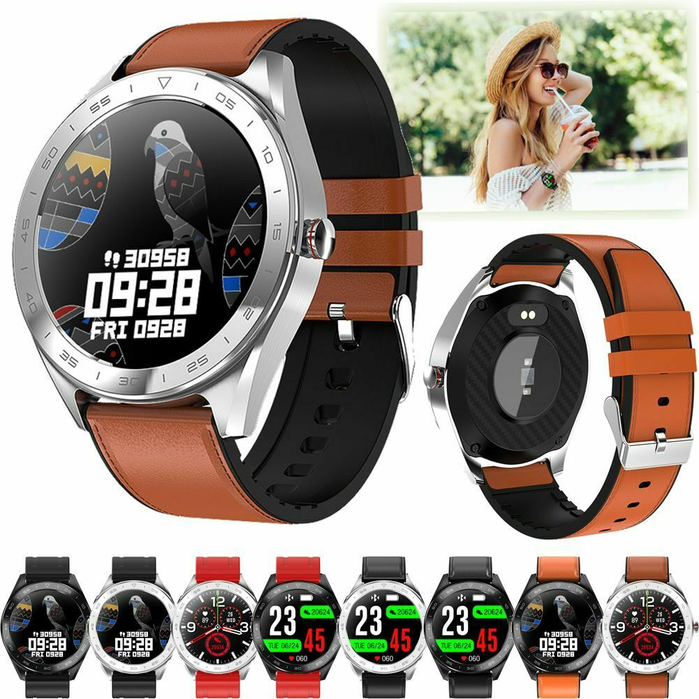 Men Women Bluetooth Smart Watch Heart Rate Steps Count Call-Reminder Touchscreen bluetooth count Featured heart men rate smart steps touchscreen watch women