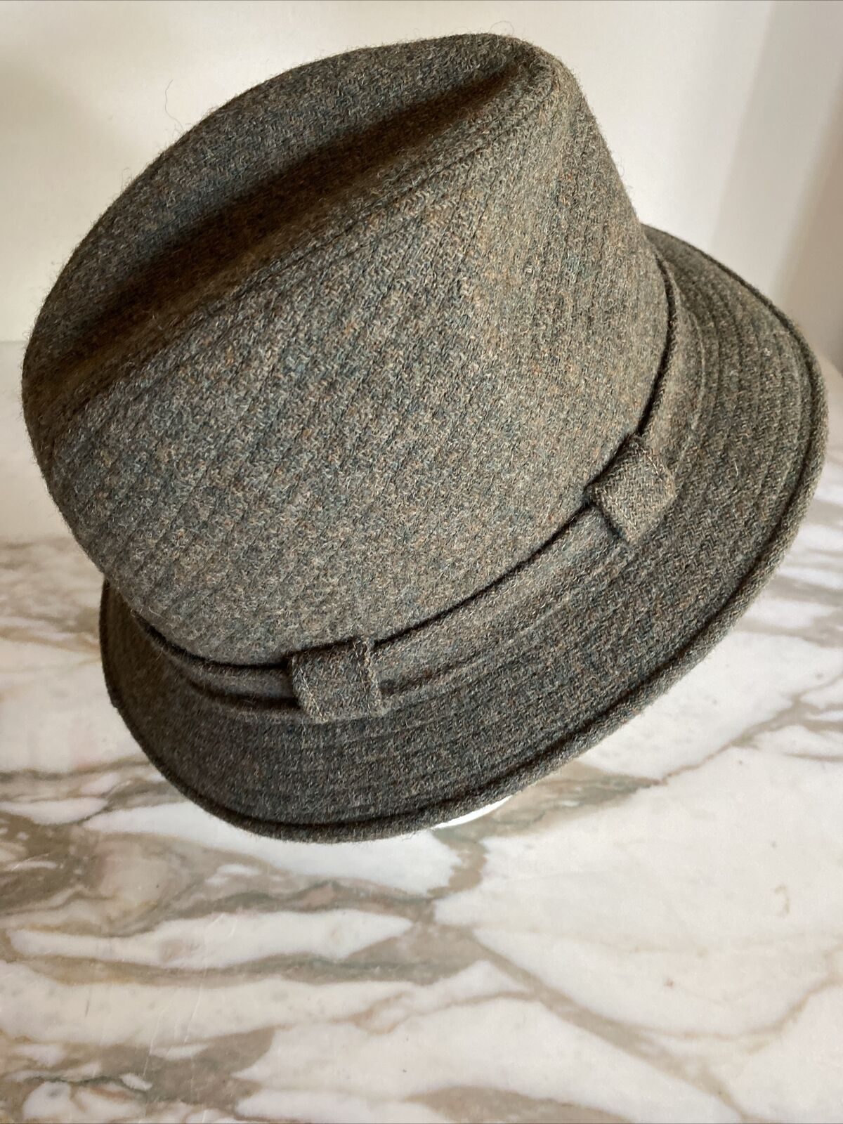 World's Best 100% Wool Vintage 1950's Green Fedor… - image 4