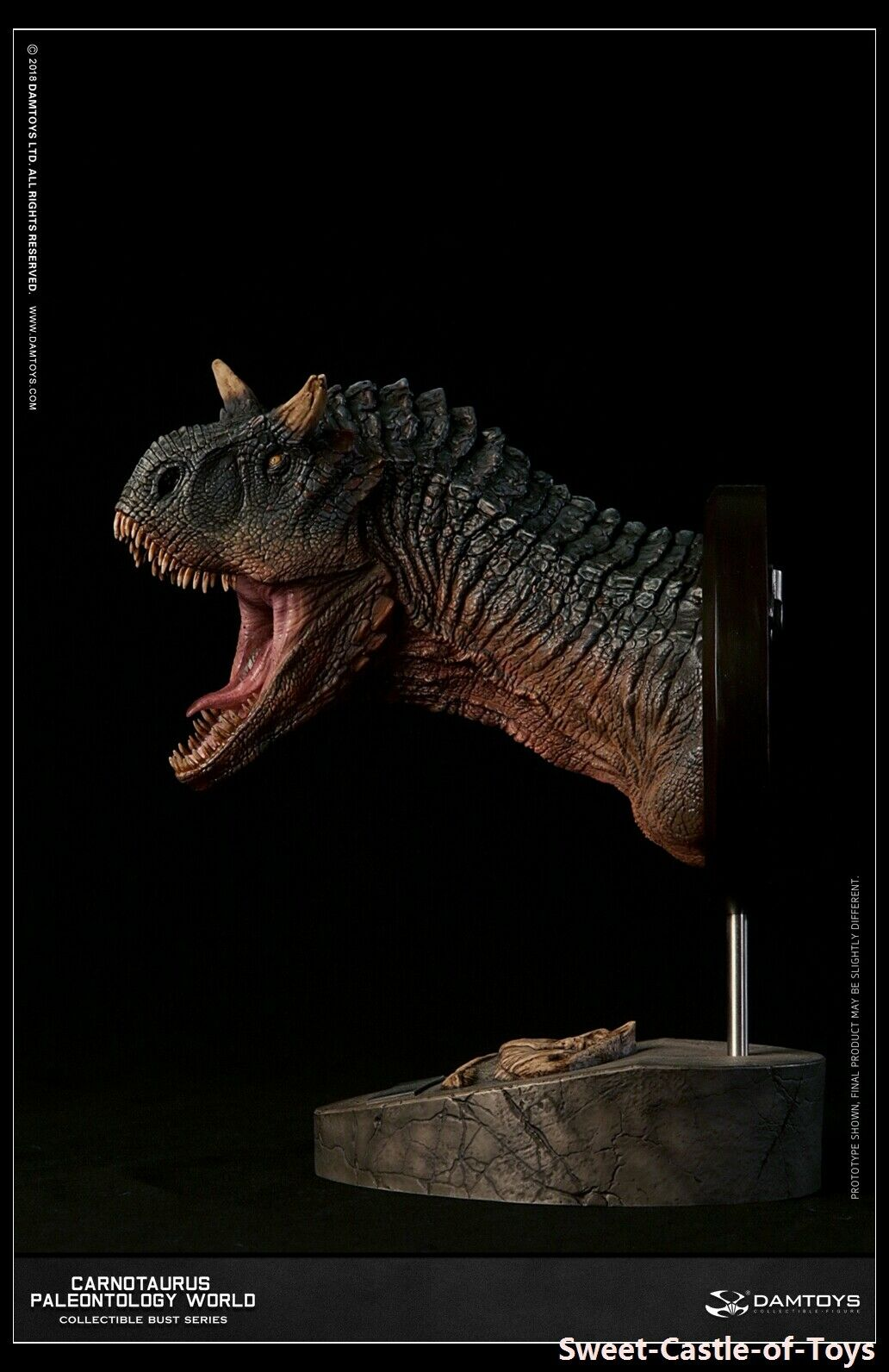 1 6 DAM Museum Series Carnotaurus Male Bust Collectible Statue Green Ver MUS005A