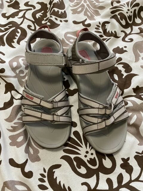 Teva Tirra sandals 6  Womens Black With Pink Accents