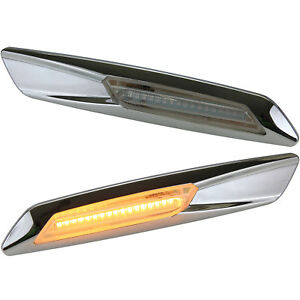 LED-SMD-Seiten-Blinker-Klarglas-CHROM-BMW-3er-5er-X1-X3-E90-E60-E61-E84-7129