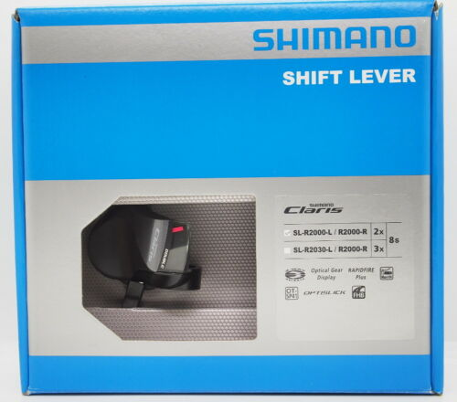 NIB Shimano Claris SL-R2000 Flat Bar 2x8-speed Shifter Lever 2-Way Release