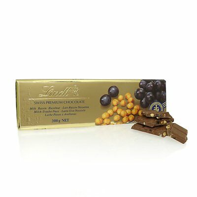 Lindt Giant Gold Milk Chocolate Fruit and Nut Bar Swiss Premium
