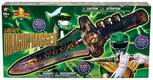 Mighty Morphin Power Rangers Bandai Legacy Dragon Dagger Green Tommy