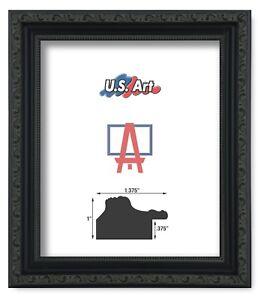 US-Art-Frames-1-37-034-Black-Victorian-Ornate-Solid-Hard-Wood-Picture-Frame-S-Lots