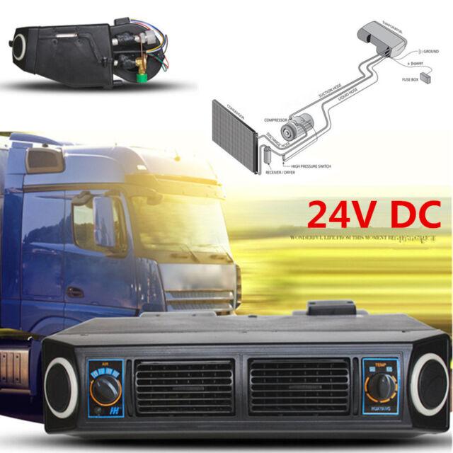 Universal 24V Auto Underdash AC Kit Evaporator Compressor Air Conditioner 3Speed