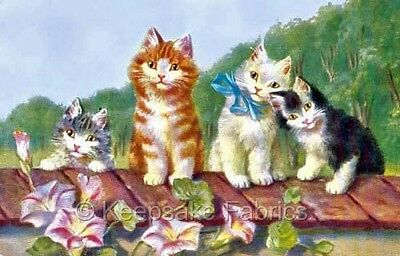 Adorable Cats With Flowers Embellishment Multi Sizes