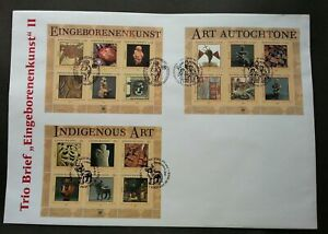[SJ] United Nations Indigenous Art 2004 Culture Porcelain (FDC) *different PMK