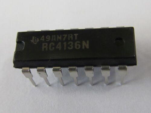 DIP14 Quad General Purpose OP RC4136N 8pcs 8 Stück Texas Instruments