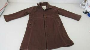 GAP-Brown-Virgin-Wool-Button-Front-Dress-Trench-Coat-Holiday-Size-5-EUC-WC