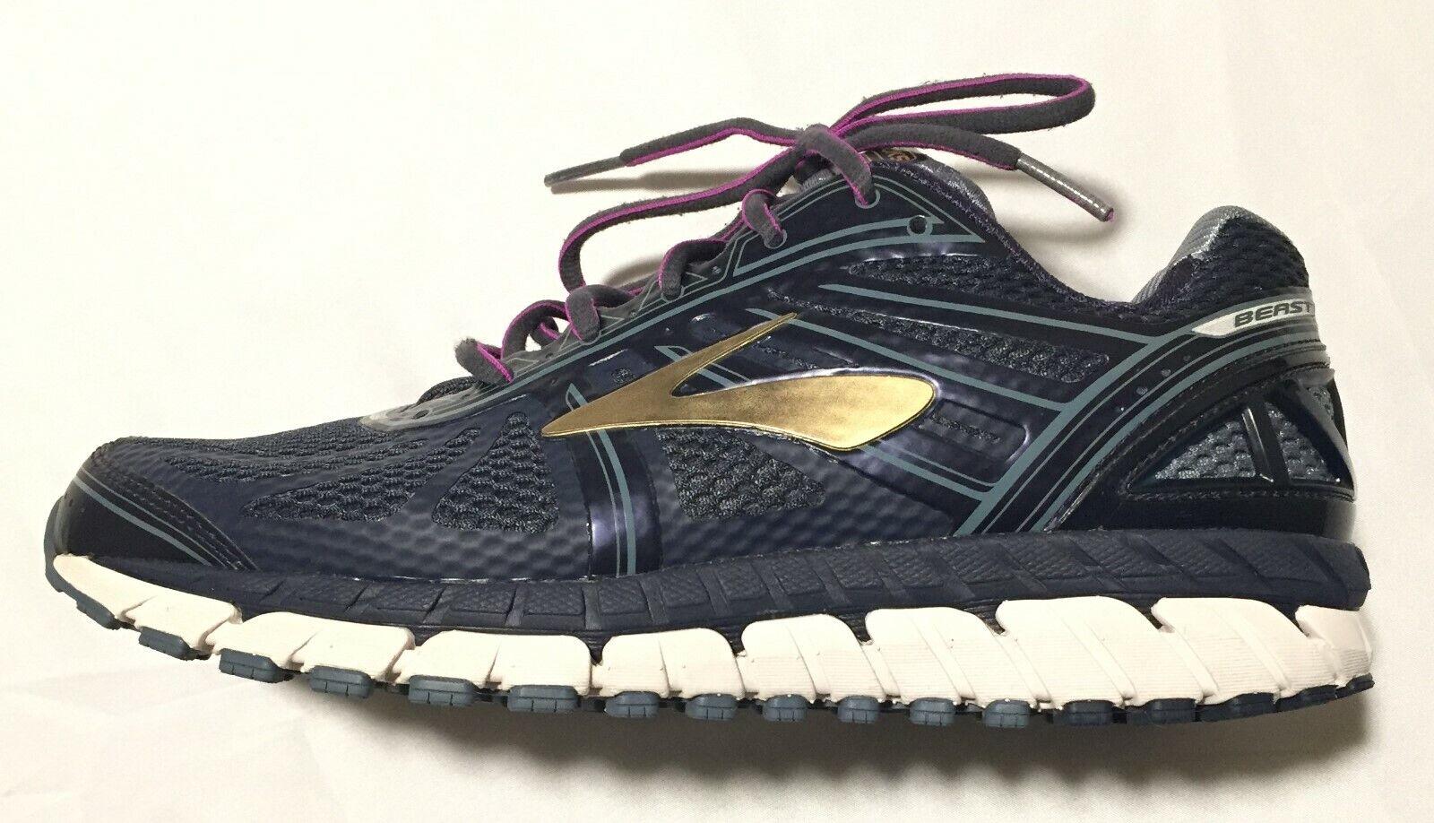 4c463aa4fd BROOKS Beast DNA Sixteen Flextra Peacoat Navy gold Men's Running shoes Sz  9.5 2E