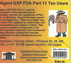 Agent GXP FDA, 10 Users: Pt. 11 by Daniel Farb (CD-ROM, 2005)