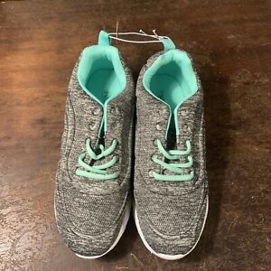 Gray And Seafoam Green Sneakers Size