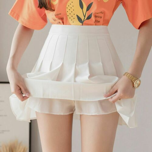 Lady Girl Pleated Tennis Skirts School Uniforms A-Line Mini Skater Skirts 50/%Off