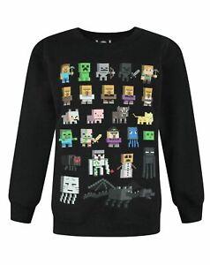 Minecraft-Sprites-Boys-Black-Sweatshirt-Kids-Black-Sweater