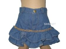 Denim Ruffled Skirt  Fits 18 Inch American Girl Doll Clothes
