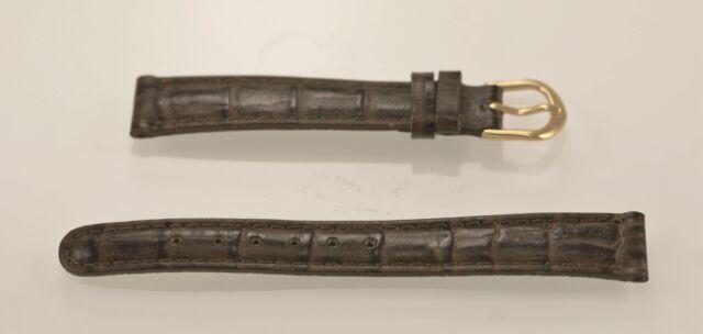 Relic Femmes Marron Foncé Texturé Cuir Remplacement Montre Bande 14mm