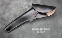 Left Hand Colt 1860 Army Black Leather U.s. Civil War Revolver / Pistol Holster
