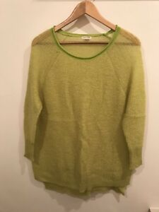 Ladies-River-Island-Lime-Green-Long-Sleeved-Jumper-Size-10-New-Without-Tags