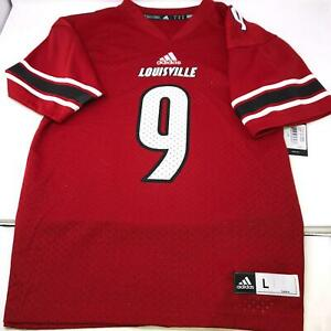 Adidas-Louisville-Cardinals-Football-Jersey-9-Youth-Size-Large