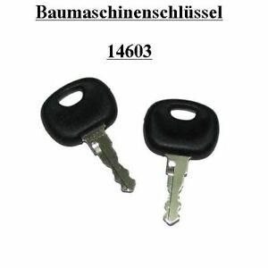 Bagger usw. 2x Schlüssel 14644 Zündschlüssel  Universal Deutz Jungheinrich