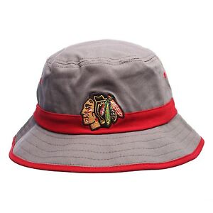 Image is loading Chicago-Blackhawks-Zephyr-Bucket-Hat-Thunderhead-Cap-Small- 7b9a41da847