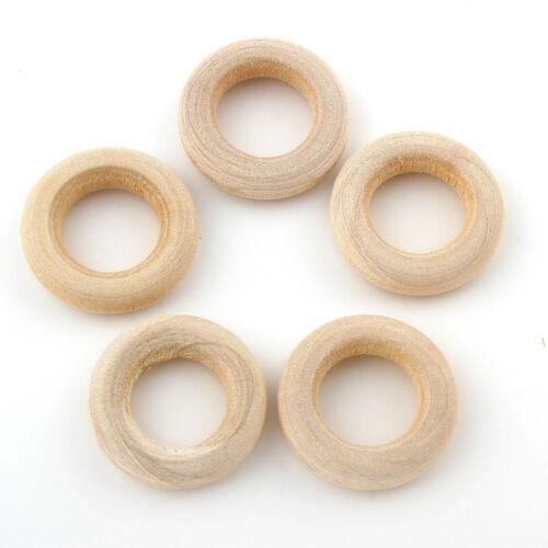 Holzringe 15mm Natur Farblos Buchenholz Schmuck Deko Holz Ring 40stk BEST H160