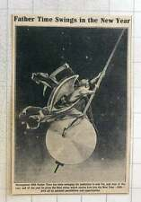 1923 Father Time Swinging His Pendulum Into 1926