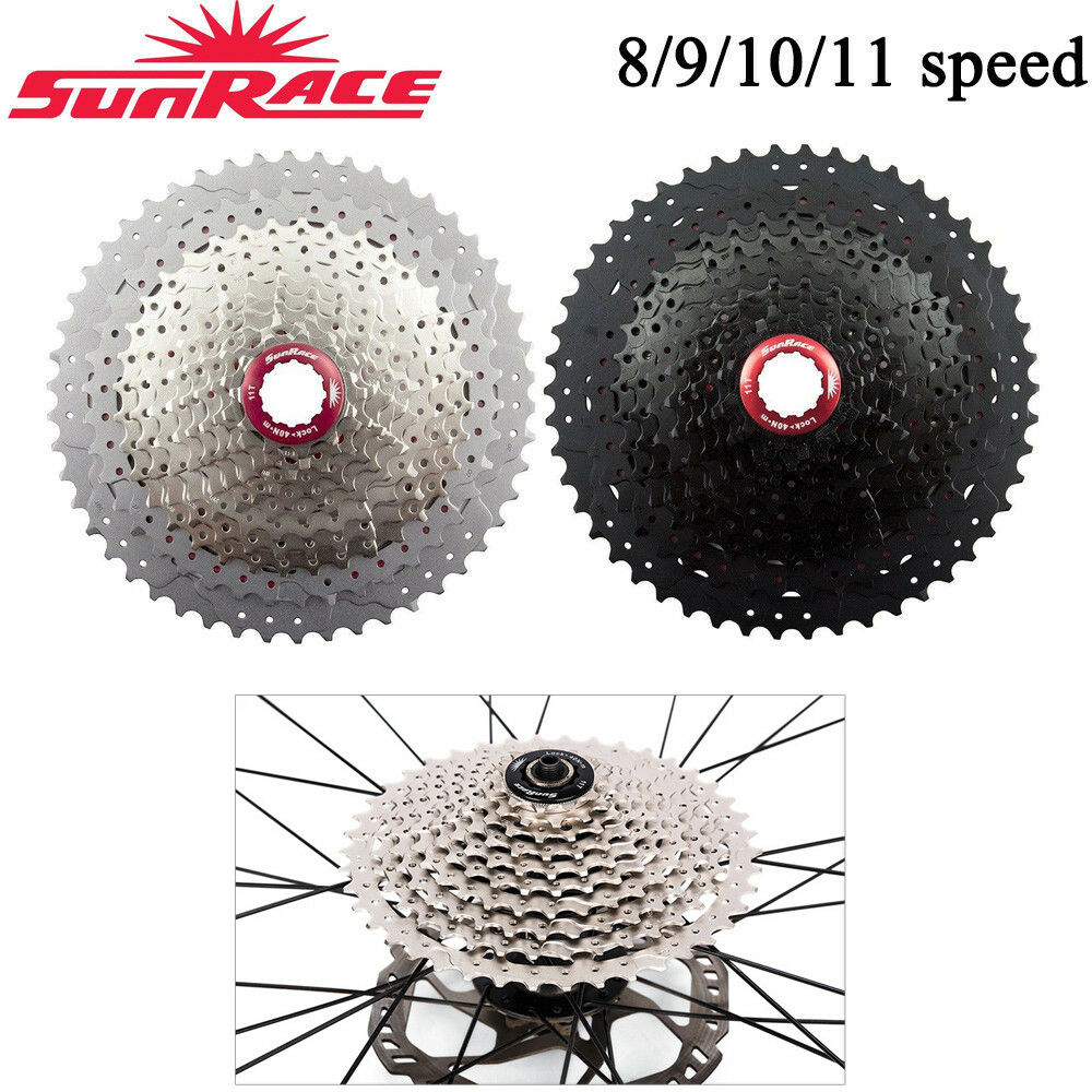 SunRace 8 9 10 11S MTB Road Bike Cassette Cycling Flywheel fit Shimano SRAM