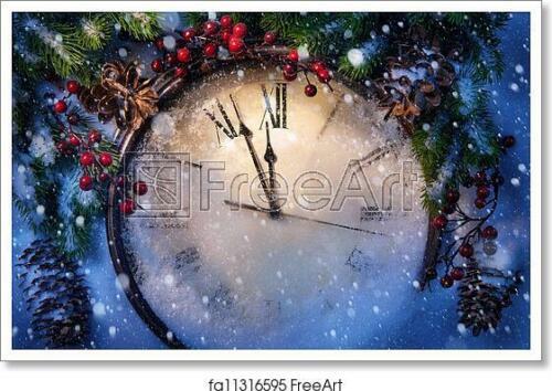 Wall Art Christmas Eve And Art Print // Canvas Print Home Decor Poster F