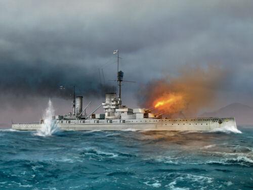 ICM S.014-1:700 König WWI German Battleship Full hull and waterline Neu