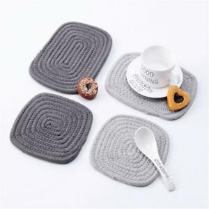 83ecbfcf151 Cotton Rope Placemat Table Cup Mat Insulation Dish Bowl Cushion Pad ...