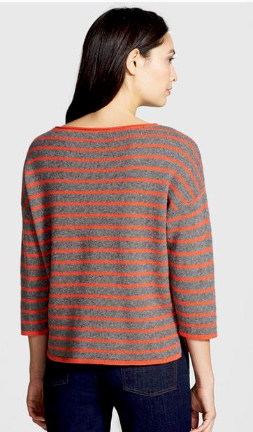 Eileen Fisher Yak Merino Boxy Sweater Red Lory Lory Lory Ash NWT  298 998d14