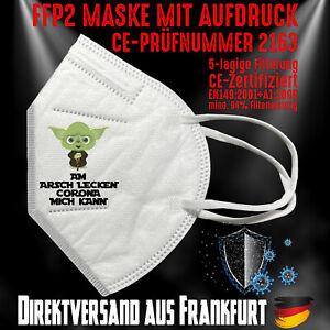 FFP2 Atemschutzmaske Mundschutz CE zertifiziert Jedi Wars Am Arsch lecken Corona