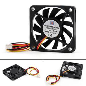 1xDC-Brushless-Cooling-PC-Computer-Ventilateur-12V-0-18A-6010s-60x60x10mm-B7-New