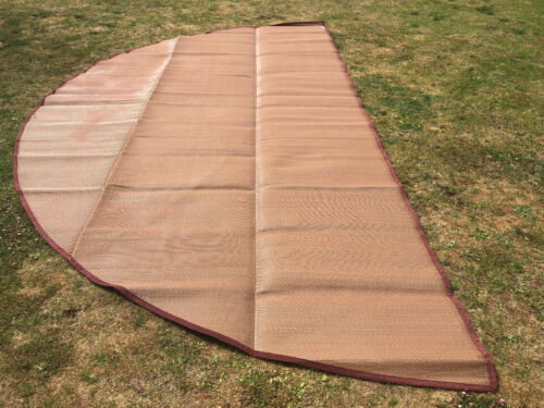 5M Bell Tent Polypropylene Matting Brown