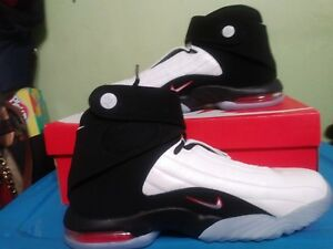 NEW BRAND Nike Air Penny IV 4 White Black-True Red 864018-101 Men s ... 12e4e9c15