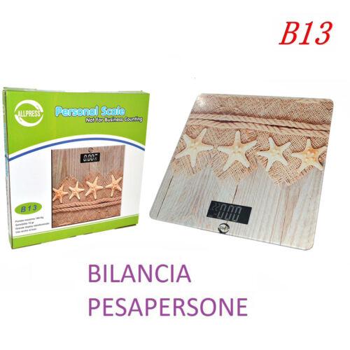 BILANCIA PESA PERSONA DIGITALE FANTASIA STELLA SABBIA ELETTRONICA DISPLAY 180KG