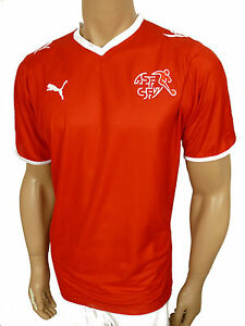 Puma-Suiza-Jersey-Camiseta-Rojo-TAMANO-M
