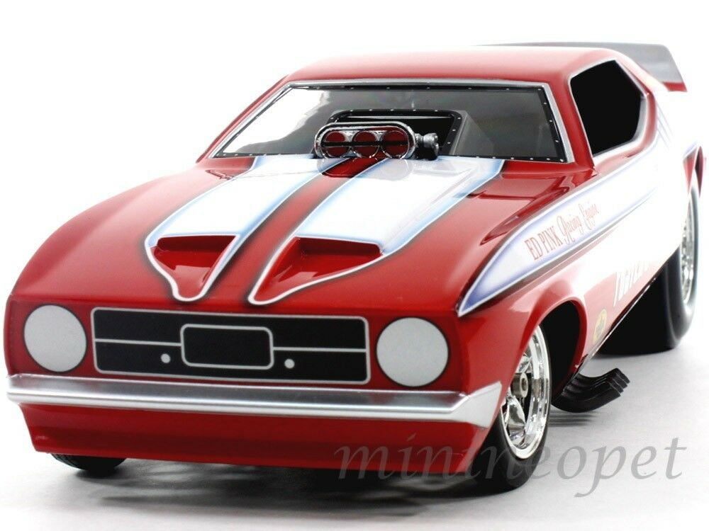 Autoworld aw1117 1972 Ford Mustang Foster's King Cobra Nhra Funny Car 1 18 rosso