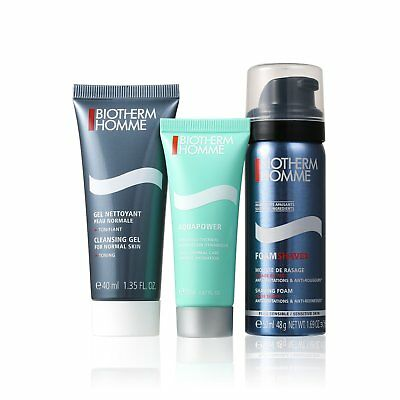 Biotherm Homme Aquapower Dynamic Hydration set Men Shaving Cleanser Face Cream