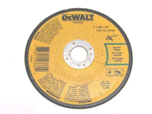 """DWA8050C 2 DeWALT 4/"""" x .045/"""" x 5//8/"""" CONCRETE MASONRY CUT-OFF WHEELS"""