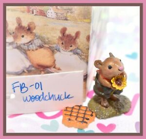 Wee-Forest-Folk-FB-01-Woodchuck-Flower-Babies-Retired-Groundhog-FB-1