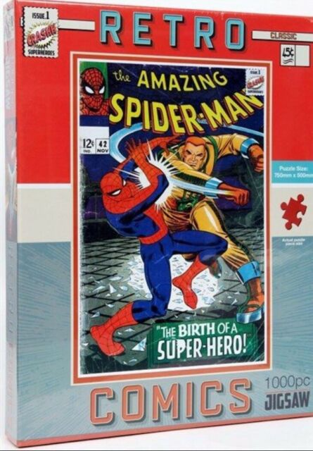 Retro Comics Spider-Man 1000 piece jigsaw puzzle