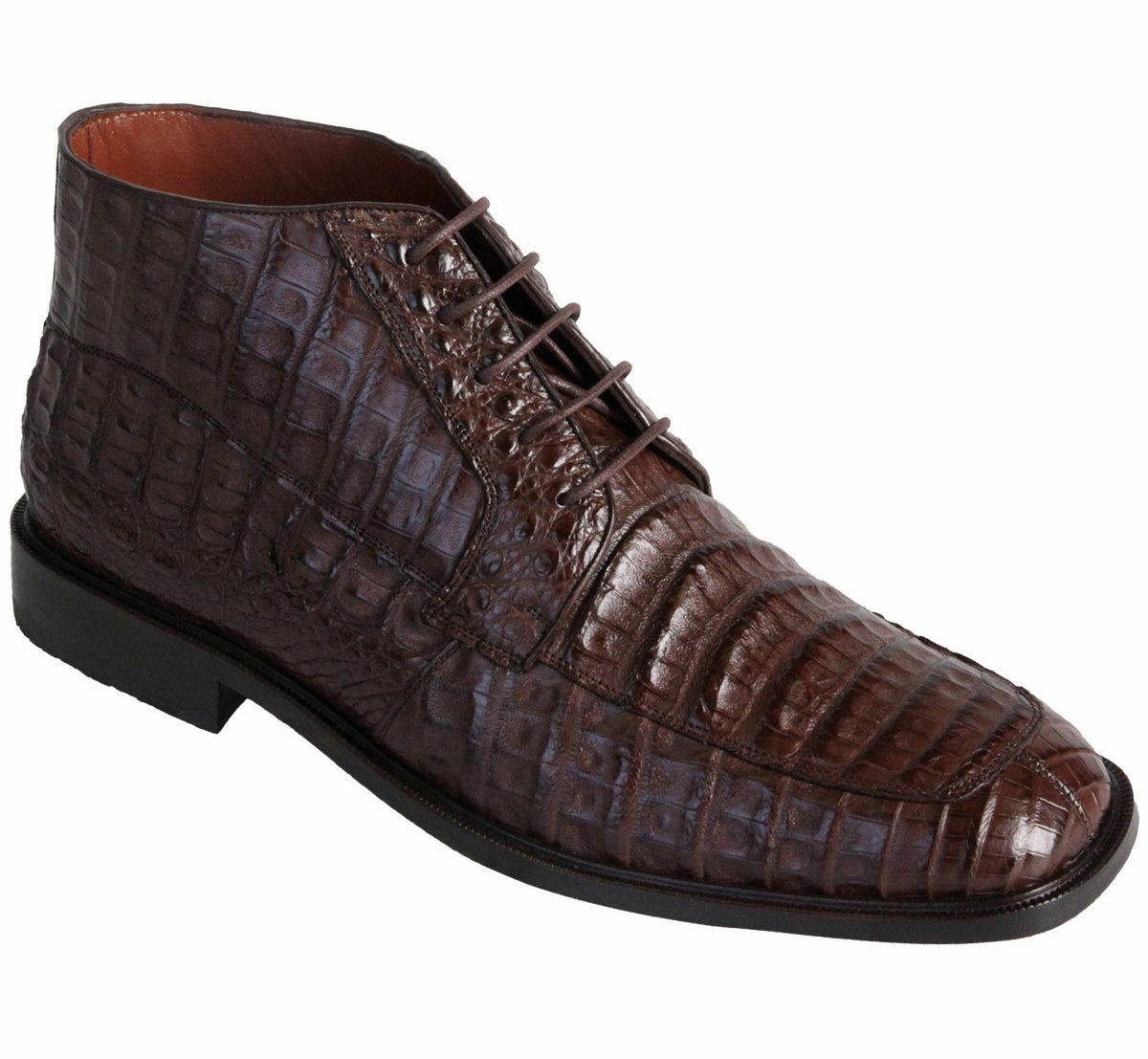 Los Altos Genuine Crocodile Belly Dress Ankle stivali Leather Outsole High Top EE+